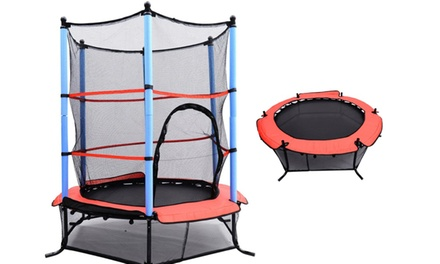 Kids' Trampoline with Removable Enclosure Net for AED 399 (56% Off)