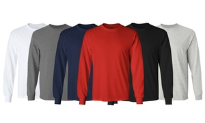 Men's Long Sleeve Crew Neck Tee (S-3XL)