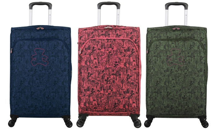 Three-Piece Lulu Castagnette Cactus Suitcase Set With Free Delivery