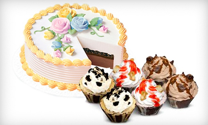 Dairy Queen - Downtown Vancouver: $7 for Six Blizzard Cupcakes or $15 Toward an Ice-Cream Cake at Dairy Queen ($15 Value)