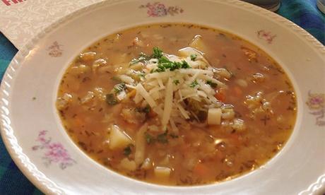 Sparangebote: Hausgemachte Suppe und Getränk für 1 oder 2 Personen bei Frau Grau (bis zu 37% sparen*)
