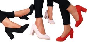 (Mode)  Escarpins talons épais