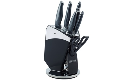 Set de cuchillos de 7 piezas y tacoma Royalty Line con acabado de fibra de carbono