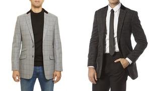 Alberto Cardinali Men's Wool-Blend Tailored-Fit Sports Blazer