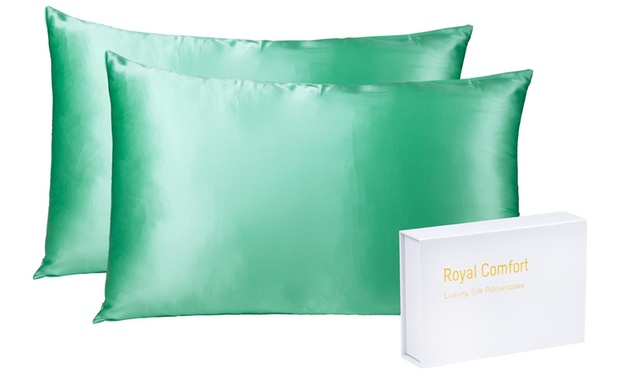 Up To 82 Off Two Mulberry Silk Pillowcases Groupon