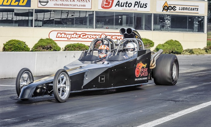 Pure Speed Drag Racing Experience - Multiple Locations: Dragster Ride-Along or Drive from Pure Speed Drag Racing Experience (Up to 31% Off). Four Options Available.