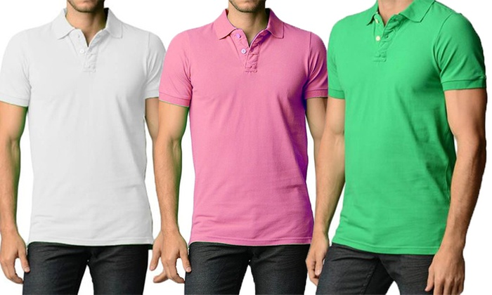 Men's Slim-Fit Cotton Polo Shirts