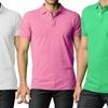 Men's Slim-Fit Cotton Polo Shirts