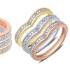 Diamond Accent Ring Set in 18K Gold Plating by Brilliant Diamond