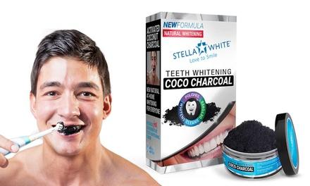 1, 2 of 3 keer Stella White koolstofpoeder met kokos voor het bleken van je tanden