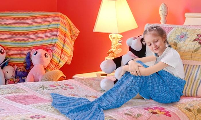 meerjungfrau decke f r kinder groupon goods. Black Bedroom Furniture Sets. Home Design Ideas