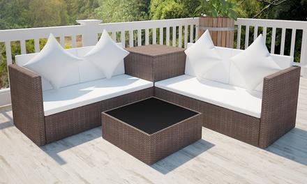 Set seduta da giardino in polirattan groupon goods for Groupon giardino