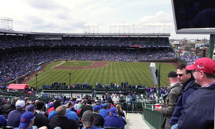 3639 Wrigley Rooftop - Lakeview: Rooftop View of Chicago Cubs Game at 3639 Wrigley Rooftop (Up to 51% Off). Eight Games Available.
