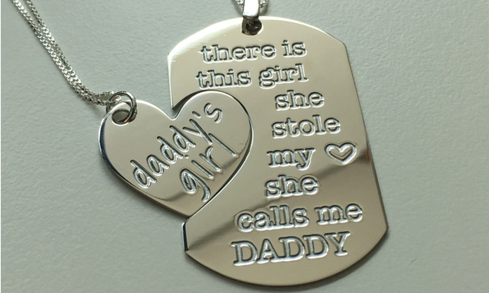 Custom dad and daughter pendants jewelryudesign groupon custom father and daughter pendants from jewelryudesign custom father and daughter pendants from jewelryudesign aloadofball Images