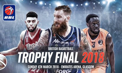 image for British Basketball League Trophy Final and Scotland vs Glasgow on 4 March at  12.45p.m., Emirates Arena (Up to 64% Off)