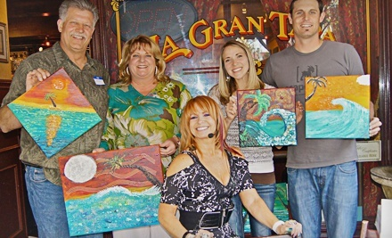 Two-Hour Canvas-Painting Class with Appetizer and Sangria for One or Two from Live Art with Davina (Up to 63% Off)