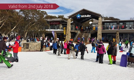 Snowy Mountains, Mt Buller: Snow Day Tour with Return Melbourne CBD Transfers for One with Around and About Travel