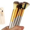 Makeup Brush Set with Carrying Bag (12-Piece)