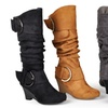 Journee Collection Women's Slouch Wedge Knee-High Boots