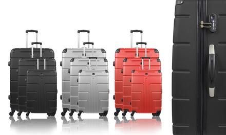 Set 3 valises en ABS, modèle Ottawa, coloris au choix