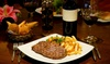 The Italian Retro - South Shields: 8oz Steak for Two or Four and Bottle of Wine to Share Between Pairs at The Italian Retro (Up to 35% Off)