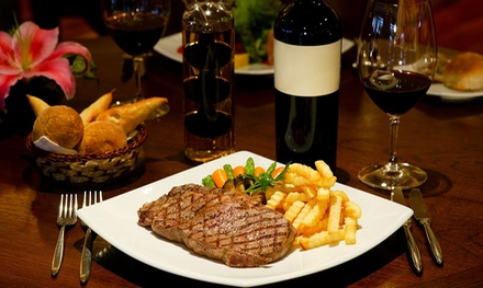 8oz Steak for Two or Four and Bottle of Wine to Share Between Pairs at The Italian Retro (Up to 35% Off)