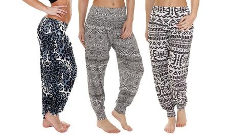 Pantalones de estilo Harem con estampado para mujer