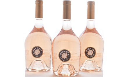 Angelina Jolie & Brad Pitt – Miraval Côtes de Provence Rose 3-Pack from WineOnSale.com (36% Off)