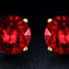 2.00 CTTW Garnet Earrings in 18K Gold–Plated Silver