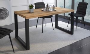 Table à manger 140 ou 160 cm, pieds classiques ou croisés