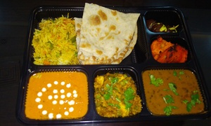 Cravings Restaurant: Two Curries, Sides and Dessert with Delivery from The Rupee Room by Cravings (Up to 34% Off)