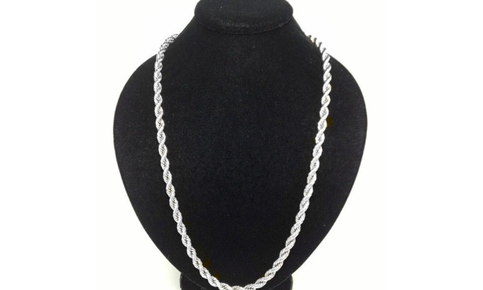 399ee3473e96e Solid 10K White Gold Rope Chain