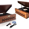 Retro Record Players with Vinyl-to-MP3 Recording