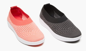 Form + Focus Women's Casual Slip-On Athleisure Sneakers