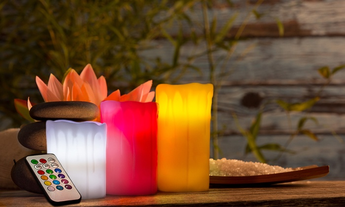 Velas led con mando a distancia groupon goods - Velas led con mando ...