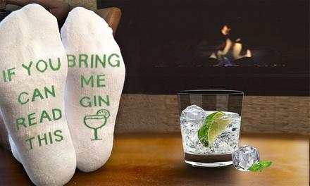 """1, 2 of 4 paar """"Bring me Gin"""" sokken"""
