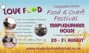 LOVE FOOD MAPLEDURHAM FOOD & CRAFT FESTIVAL: Mapledurham Food & Craft Festival: Two Adult Day Tickets, Mapledurham House, 20 - 21 August