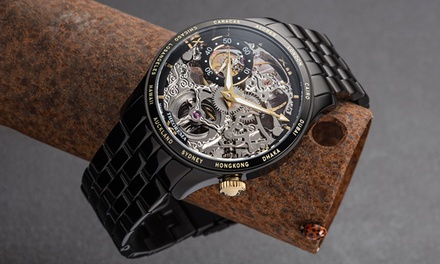 Orologio Monte Carlo Theorema Made in Germany disponibile in vari colori e con cinturino in pelle o in acciaio inox