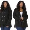 Sociology Women's Plus Size Hooded Duffle Coat (Size 2X)