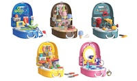 Portable Backpack Playsets: Beauty, Kitchen, Ice Cream, Doctor, or Tools