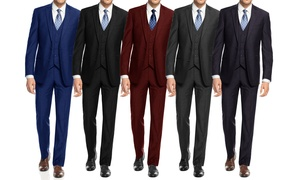 Braveman Men's Slim Fit Suit (3-Piece)