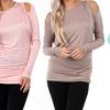 Women's Cold Shoulder Dolman Sleeve Tunic