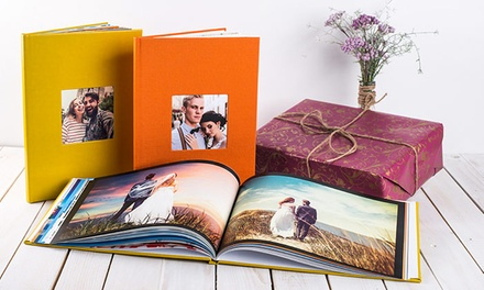 1 o 2 fotolibros premium A4 de hasta 80 páginas con tapa a elegir entre ecocuero o tela desde 9,99 € con Colorland
