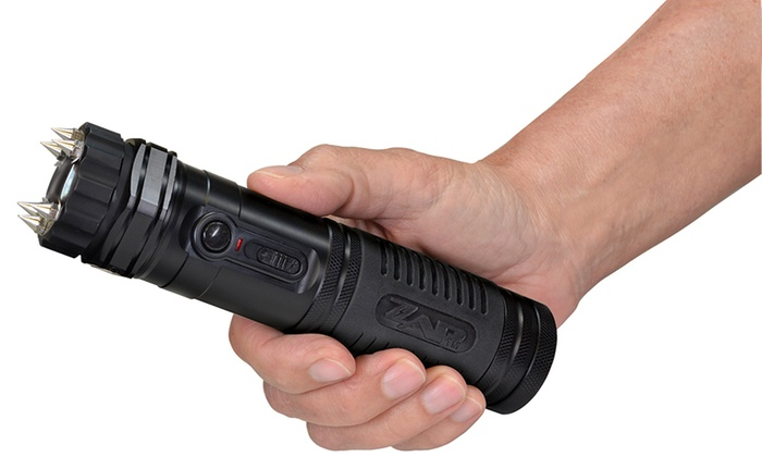 1,000,000V Zap Light Extreme Stun Gun with Spike Electrodes and Flashlight
