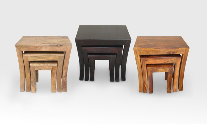 Tuscany nest of three tables groupon goods tuscany nest of three tables watchthetrailerfo