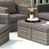 Bristow Outdoor Deep Seating Chair and Ottoman Set (4-Piece)