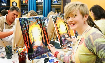 2- to 3-Hour All-Inclusive Paint Party Admission at Uncorked Canvas (Up to 38% Off)