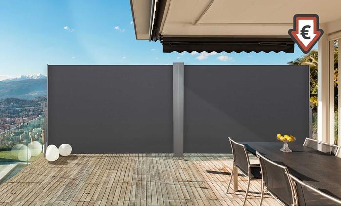 Paravent rétractable simple ou double en aluminium, taille et coloris au choix, dès 49,90€ (jusqu'à 61% de réduction)