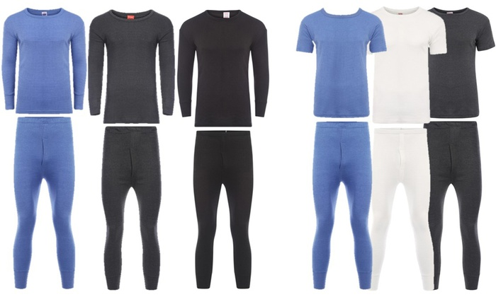 Groupon Goods Global GmbH: Men's Short-Sleeved (£4.99) or Long-Sleeved (£5.99) Thermal Underwear Sets
