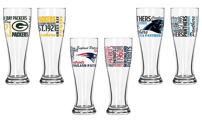 NFL Spirit Pilsner Glasses (2-Pack)